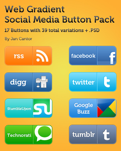 Web Social Media Button