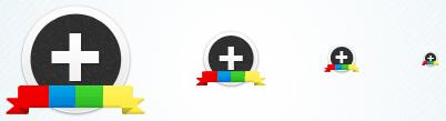 Google + Circular Icon Set (PSD + PNG)
