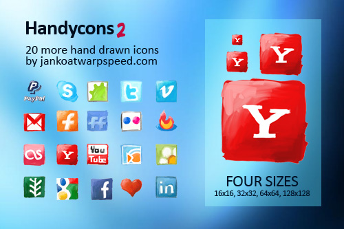 Handycons 2 - another free hand drawn icon set