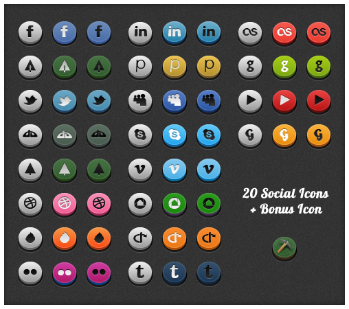 Social 3D Icons