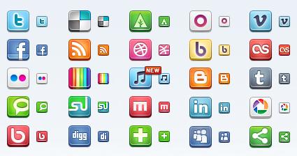 Social Media Sleek Icons: Icon Pack