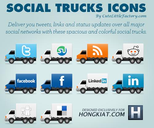 [Freebie] Social Truck Icon Set