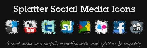 Splatter Social Media Icons
