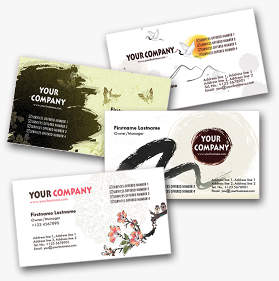 4 Asian-Inspired Personal Business Cards Templates