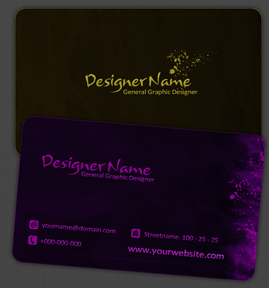 DS Free Business Card Print Template