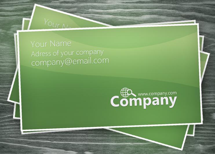 Green Business Card PSD