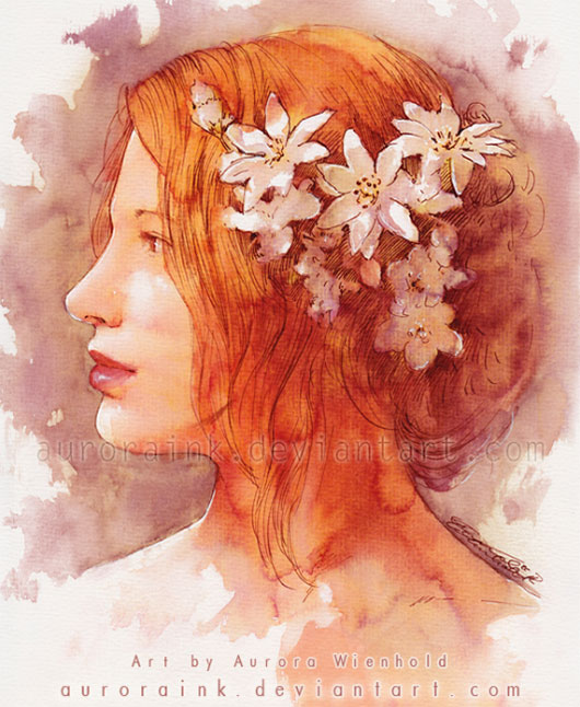 Portrait Watercolor by auroraink