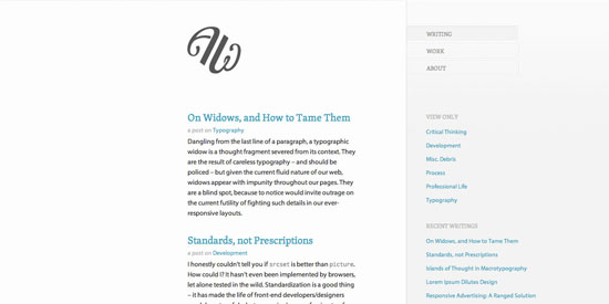 Simple Blog Design