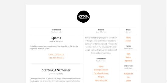 Simple Blog Design
