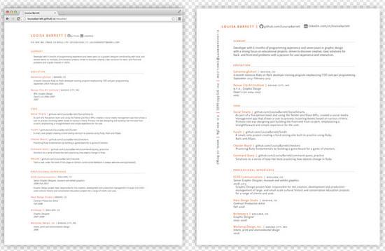 Resume4 Creator LouisaBarrett Features Simple Template