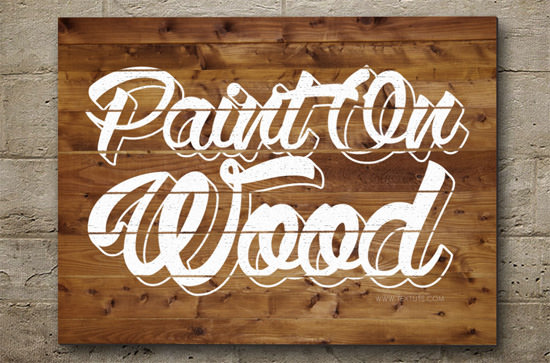 painted-on-wood-text-effect