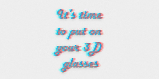 anaglyphic-text-effect