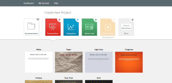 10-tools-to-create-infographics-visme options