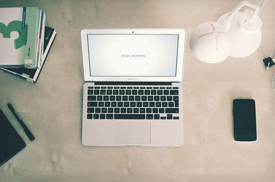 scene with macbook