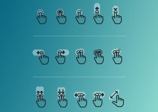 dark gesture icons