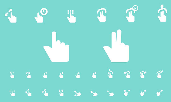 gesture icons in psd and ai