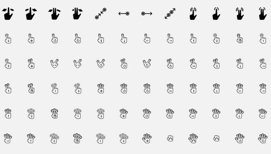 solid gesture icons
