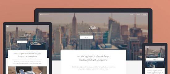 alpha theme