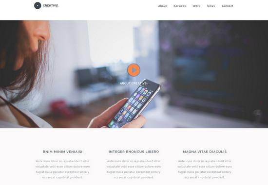creative website layout