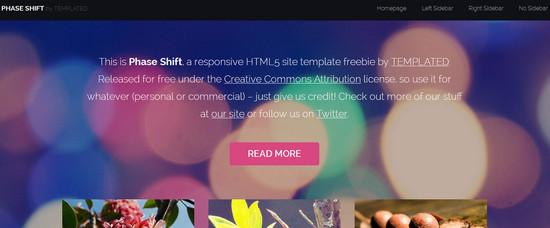 phase shift - adaptive theme