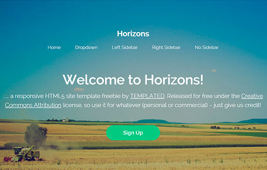Horizons HTML5 Template