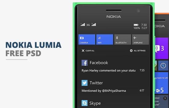 Nokia Lumia PSD Template