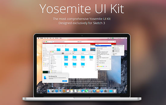 OS X Yosemite Sketch UI Kit