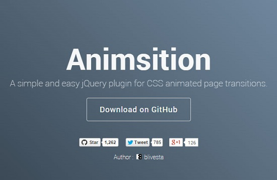 Animsition: User-Friendly jQuery-Plugin for Animated Page