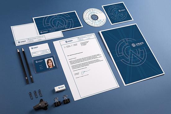 blue corporate identity