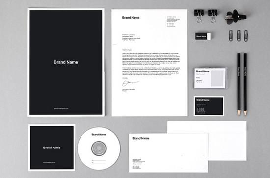 b&w brand identity