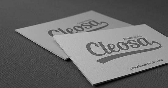 clean b card