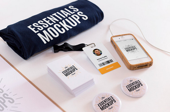 essentials mockup