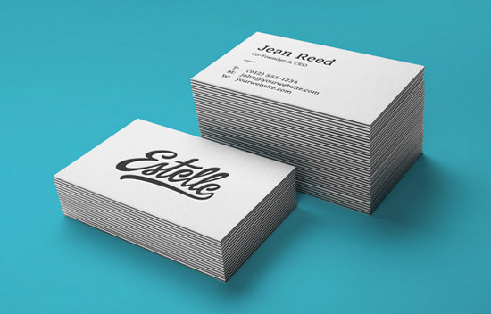 letterpress b card
