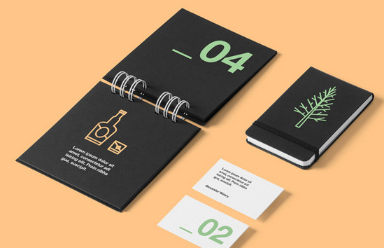 minimal set of stationery