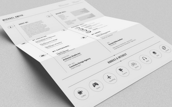 monochrome resume