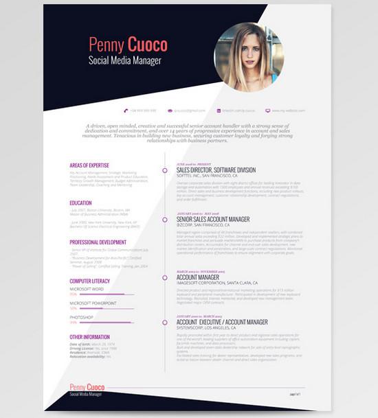 white resume