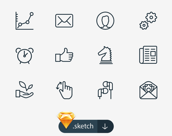 100 sketch icons