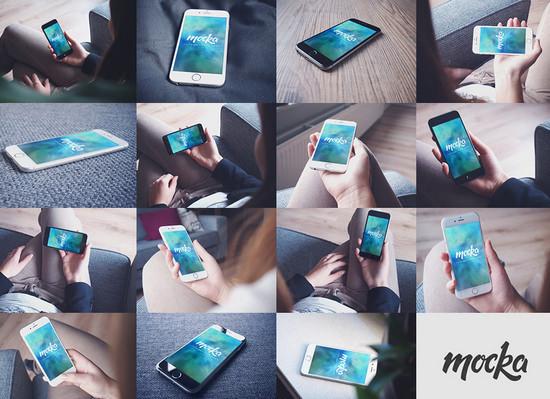 16 iphone mockups
