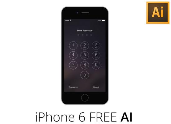 iphone6 flat
