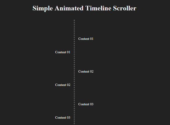 animated timeline scroller