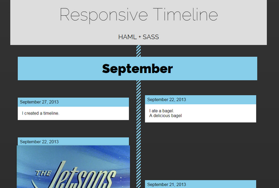 responsive timeline by boltaway