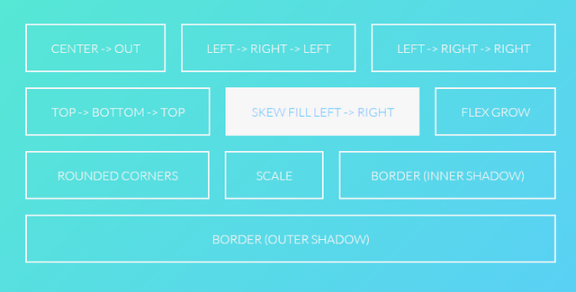 button hover effects