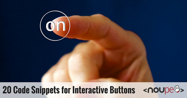 20 Code Snippets for Interactive Buttons
