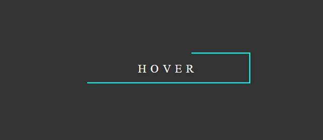 elegant hover effect