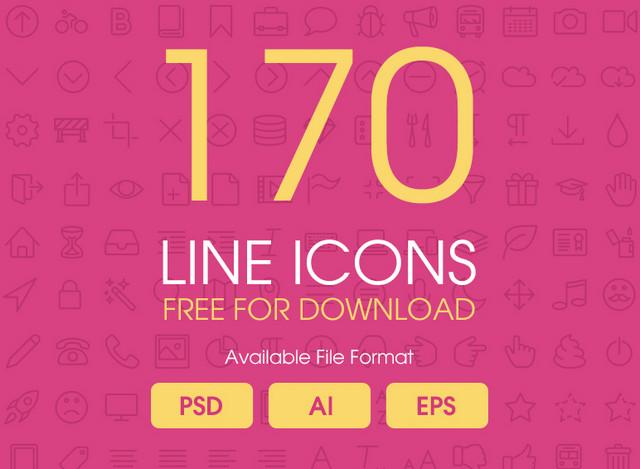 170 line icons