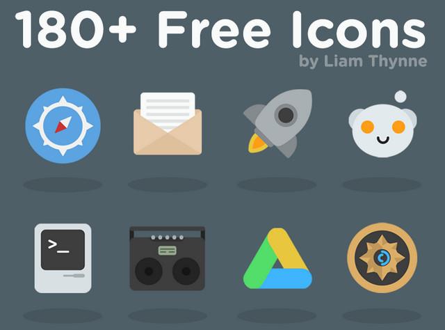 180 free icons