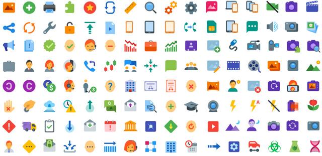 350 flat icons
