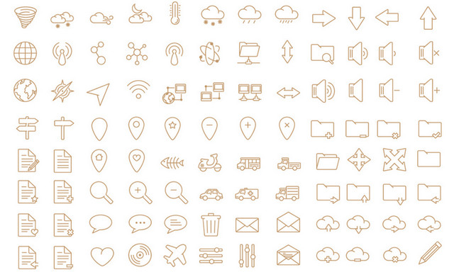 450 simple icons