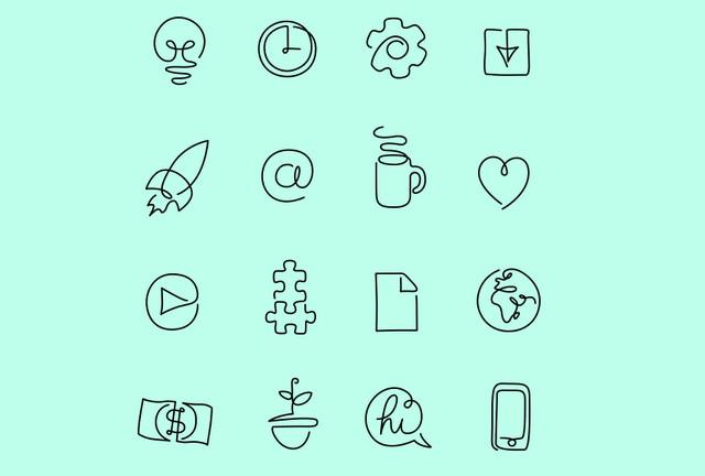 one line icon