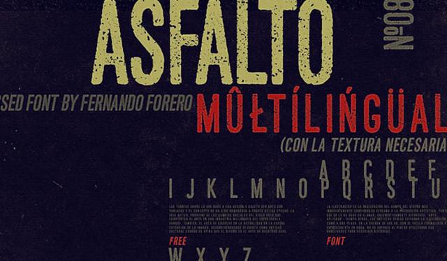 asfalto typeface